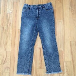 Wrangler Jeans - Wrangler Acid Wash Cropped 5 Pocket Jeans 28